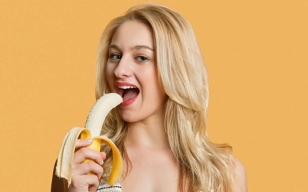 Eating bananas